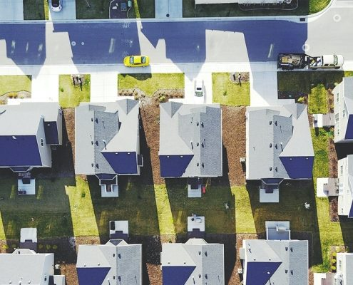 Aerial View of Affordable Houses